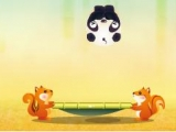 flash игра Panda Fruit Bounce