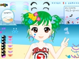 Flash игра Happy Beach Make Up