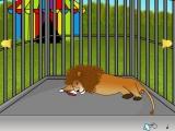 Lion cage escape