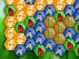 flash игра Hexagon of worms
