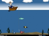 flash игра Hillbilly Fishing