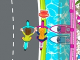 Flash игра Anita Cycle Racing