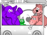Animal Train Coloring