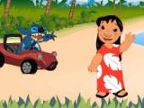 Лило и Стич Car Race