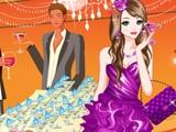 Мода фиолетовое платье