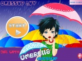 Girl Með Umbrella Dressup