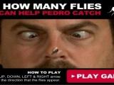 Lihat berapa banyak lalat yang anda boleh membantu Pedro menangk