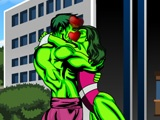 flash игра Hulk Kissing