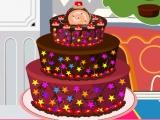 चॉकलेट केक सजावट