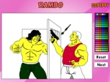 Rambo Online Coloring Game