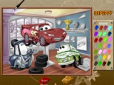 flash игра Cars Online Coloring Game