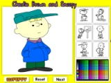 Charlie Brown and Snoopy Online Coloring game