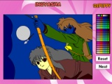Inuyasha Online Coloring Game
