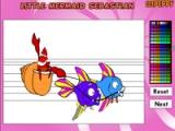 flash игра Little Mermaid Sebastian Online Coloring Game