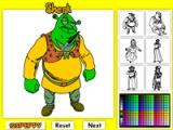 flash игра Shrek Online Coloring Game