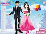 flash игра Winter Wedding Dresses