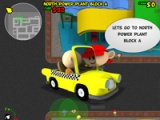 Riding on a yellow taxi