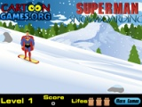 Superman snowboarding