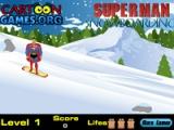 Superman snowboarding