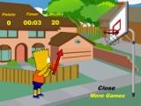 flash игра Bart Simpson basketball game