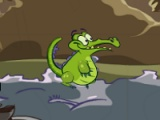 flash игра Crocodile parkour