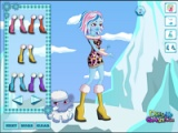 Fashion for winter clothes at school monsters