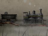 Сargo steam train