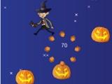 Mr. Bean jump on pumpkin