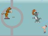 Cartoon hero: Xmas fighting