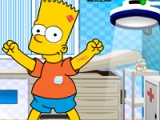 flash игра Bart Simpson at the doctor