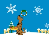 flash игра Scooby doo: Christmas gift dash