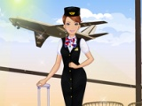 Airline hostess dress up