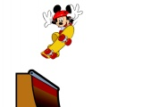Bir kaykay üzerinde Mickey