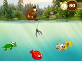 flash игра Masha and  Bear: Fishing