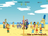flash игра The Simpsons Beach Volleyball