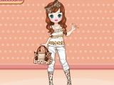 flash игра Leopard fashion dress up