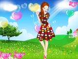 flash игра Bloom Girl Dressup