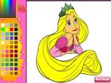 flash игра Rapunzel Online Coloring Game
