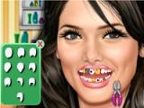 Ashley Greene at dentist