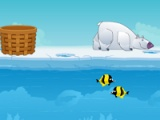 flash игра Polar bear fishing