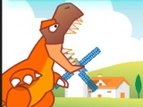 flash игра Dinosaurs Eat Fruit