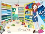 Reinigungszeit! Supermarkt