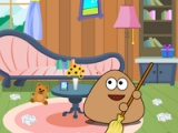 flash игра Pou clean room