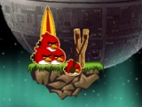 flash игра Angry birds: Space alien war
