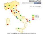 25 cities of Italy