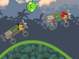 flash игра Angry birds: Crazy racing