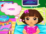 flash игра Dora disease doctor care