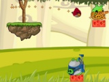 flash игра Angry birds. Naughty pig. Magic world