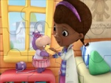 Doc McStuffins. Holly at the bathroom. Puzzle