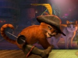 flash игра Puss in boots 3D: Dancing boots